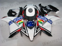 OEM quality fairings and body kits for 2008 2009 2010 2011 Honda CBR1000RR with Eurobet color scheme/graphics, these fairing kits are oem quality, fast shipping and easy installtion. More factory color-matched fairings for CBR1000RR 2008 2009 2010 2011, team race replica fairings and custom fairing sets for Honda CBR1000RR 2008 2009 2010 2011, please browse iFairings.com.