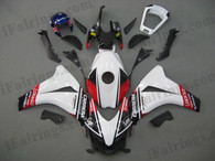 Honda CBR1000RR 2008 2009 2010 2011 white fairing kits, this Honda CBR1000RR 2008 2009 2010 2011 plastics was applied in whitegraphics, this 2008 2009 2010 2011 CBR1000RR fairing set comes with the both color and decals shown as the photo.If you want to do custom fairings for CBR1000RR 2008 2009 2010 2011,our talented airbrusher will custom it for you.