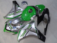 2008 2009 2010 2011 Honda CBR1000RR Silver/Green fairing kit
