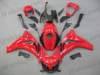 Honda CBR1000RR 2008 2009 2010 2011 red fairing kits, this Honda CBR1000RR 2008 2009 2010 2011 plastics was applied in redgraphics, this 2008 2009 2010 2011 CBR1000RR fairing set comes with the both color and decals shown as the photo.If you want to do custom fairings for CBR1000RR 2008 2009 2010 2011,our talented airbrusher will custom it for you