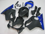 Honda CBR600F4i black and blue fairings.