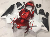 2003 2004 Honda CBR600RR red, white and black graphic fairing kits, aftermarket fairings and bodywork for 2003 2004 Honda CBR600RR red, white and black pattern/scheme.