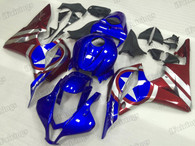 2007 2008 Honda CBR600RR Captain America graphic fairing kits, aftermarket fairings and bodywork for 2007 2008 Honda CBR600RR Captain America pattern/scheme.