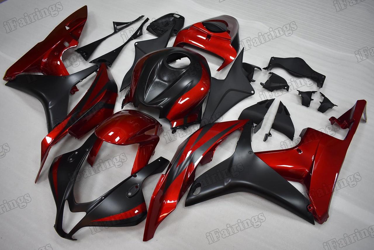 2007 2008 Honda Cbr600rr Red And Black Fairings Ifairings