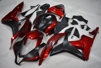 2007 2008 Honda CBR600RR red and black graphic fairing kits, aftermarket fairings and bodywork for 2007 2008 Honda CBR600RR red and black pattern/scheme.