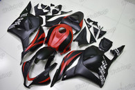 2009 2010 2011 2012 Honda CBR600RR black and red graphic fairing kits, aftermarket fairings and bodywork for 2009 2010 2011 2012 Honda CBR600RR black and red pattern/scheme.