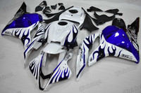 2009 2010 2011 2012 Honda CBR600RR blue ghost flame graphic fairing kits, aftermarket fairings and bodywork for 2009 2010 2011 2012 Honda CBR600RR blue ghost flame pattern/scheme.