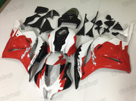 2009 2010 2011 2012 Honda CBR600RR red, white and black graphic fairing kits, aftermarket fairings and bodywork for 2009 2010 2011 2012 Honda CBR600RR red, white and black pattern/scheme.