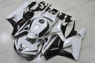 2013 to 2016 2017 Honda CBR600RR white/black graphic fairing kits, aftermarket fairings and bodywork for 2013 to 2016 2017 Honda CBR600RR white/black pattern/scheme.