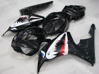 2006 2007 Honda CBR1000RR black graphic fairing kits, aftermarket fairings and bodywork for 2006 2007 Honda CBR1000RR black pattern/scheme.