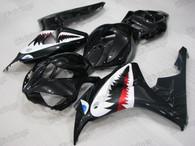 2006 2007 Honda CBR1000RR black graphic fairing kits, aftermarket fairings and bodywork for 2006 2007 Honda CBR1000RR black pattern/scheme.