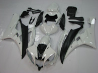 2006 2007 Yamaha R6 white and black fairing set