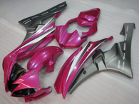 2006 2007 Yamaha R6 pink and grey fairing kit