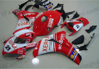 Honda CBR1000RR 2008 2009 2010 2011 XEROX fairing kits, this Honda CBR1000RR 2008 2009 2010 2011 plastics was applied in XEROXgraphics, this 2008 2009 2010 2011 CBR1000RR fairing set comes with the both color and decals shown as the photo.If you want to do custom fairings for CBR1000RR 2008 2009 2010 2011,our talented airbrusher will custom it for you.