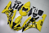 2006 2007 Yamaha R6 yellow custom fairings