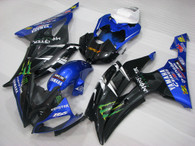 2008 to 2016 Yamaha R6 black and blue fairing kit