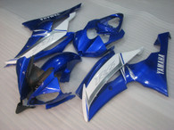 2008 to 2016 Yamaha R6 blue and white fairings