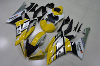 2008 to 2016 Yamaha R6 yellow and silver fairing set