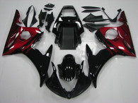 2003 2004 2005 Yamaha R6 black and red fairings and body kits