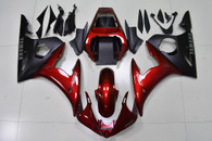 2003 2004 2005 Yamaha R6 red and black fairing kit