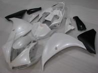 2012 2013 2014 Yamaha R1 white and black fairing kit.