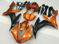 2004 2005 2006 Yamaha R1 orange and black fairing kit.