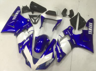 2000 2001 Yamaha R1 blue and white fairings.
