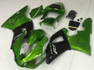 2000 2001 Yamaha R1 green and black fairings