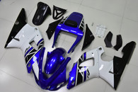1998 1999 Yamaha R1 blue white and black fairings
