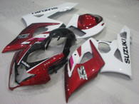 2005 2006 Suzuki GSX-R 1000 red and white fairing set