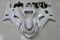 2001 2002 2003 Suzuki GSXR 600, GSXR750 pearl white fairings