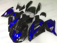 2006 to 2011 Kawasaki ZX-14 black and blue fairing kit.