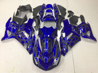 2006 to 2011 Kawasaki ZX-14 blue fairing kit.