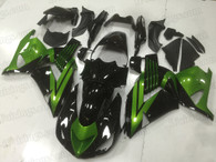 2006 to 2011 Kawasaki ZX-14 black and green fairing kit