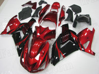 2006 to 2011 Kawasaki ZX-14 red and black fairing kit
