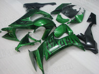 2008 2009 2010 Kawasaki ZX-10R green and black fairing kit