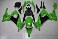 2008 2009 2010 Kawasaki ZX-10R green and black fairings.