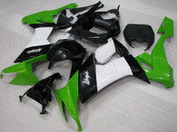 2008 2009 2010 Kawasaki ZX-10R green, black and white fairings.