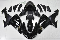 2006 2007 Kawasaki ZX-10R black fairing kit.