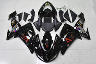 2006 2007 Kawasaki ZX-10R black monster fairing kit.