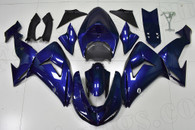 2006 2007 Kawasaki ZX-10R dark blue fairing kit.