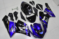 2005 2006 Kawasaki ZX-6R blue and black fairing kit