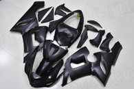 2005 2006 Kawasaki ZX-6R matte black fairing kit.
