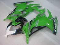 Kawasaki Ninja 300 green and black fairing kit
