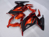 Kawasaki Ninja 300 orange and black fairing kit.