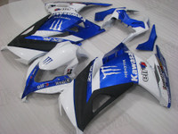 Kawasaki Ninja 300 white and blue fairing kit.