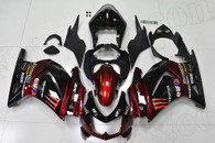 2008 to 2012 Kawasaki Ninja 250R red and black fairings