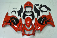 2008 to 2012 Kawasaki Ninja 250R red fairings with black punisher