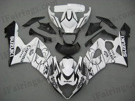 Suzuki GSXR1000 2005 2006 white corona fairing kits, this Suzuki GSXR1000 2005 2006 plastics was applied in white corona graphics, this 2005 2006 GSXR1000 fairing set comes with the both color and decals shown as the photo.If you want to do custom fairings for GSXR1000 2005 2006,our talented airbrusher will custom it for you.