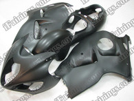 Suzuki GSXR1300 1996 to 2007 Hayabusa matt/flat black fairing kits, this Suzuki GSXR1300 1996 to 2007 Hayabusa plastics was applied in matt/flat black graphics, this 1996 to 2007 Hayabusa GSXR1300 fairing set comes with the both color and decals shown as the photo.If you want to do custom fairings for GSXR1300 1996 to 2007 Hayabusa,our talented airbrusher will custom it for you